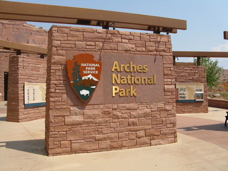 Visitor Center at Arches NP.