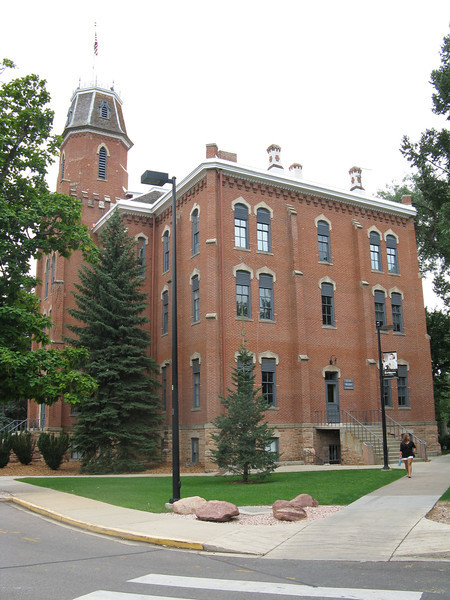 Old Main, the first building at CU.