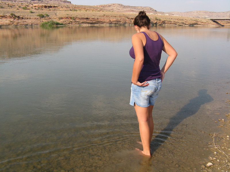 Water was cold, and there were lots of tiny fish in the river.