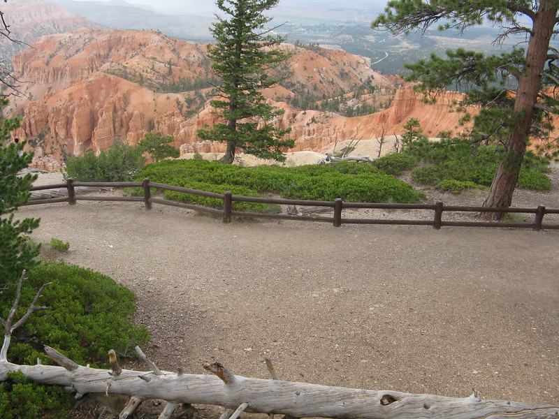 "We headed to one of the viewpoints and got a glimpse of the main ""ampitheatre"" of Bryce Canyon."