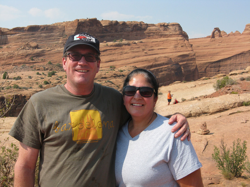 Bruce and Christine at Delicate Arch viewpoint.