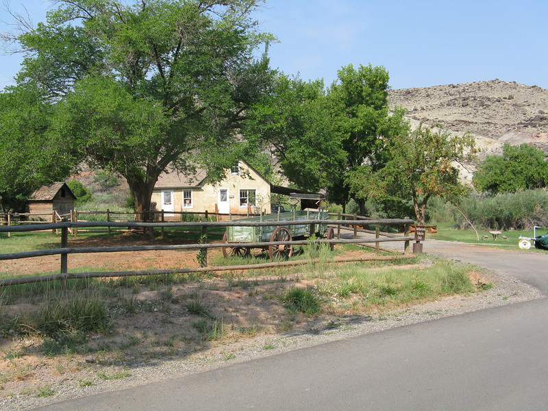 Old residence of Mormon farmers who settled this valley.
