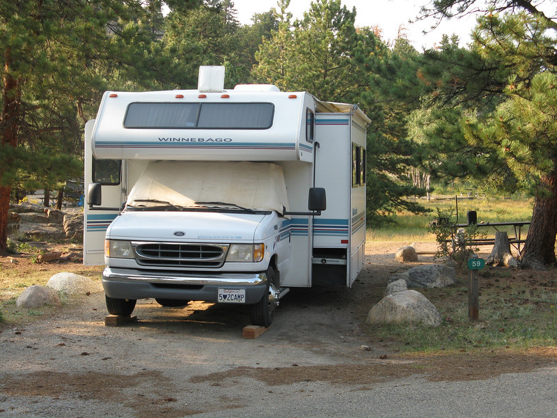 We camped at Moraine Park campground.