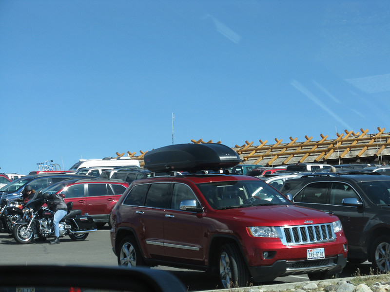 Very crowded at the summit visitor center, so we kept on driving towards our campground.