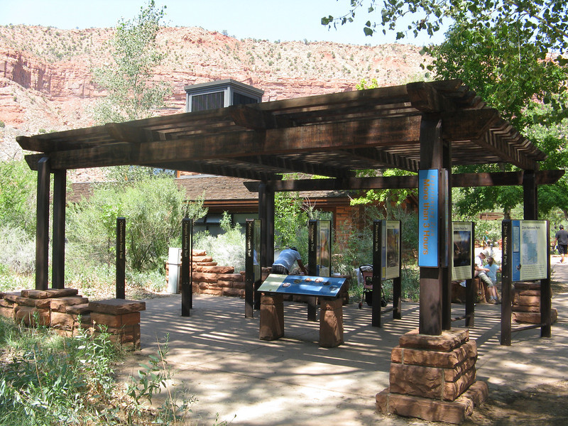 Visitor center has lots of outdoor exhibits.