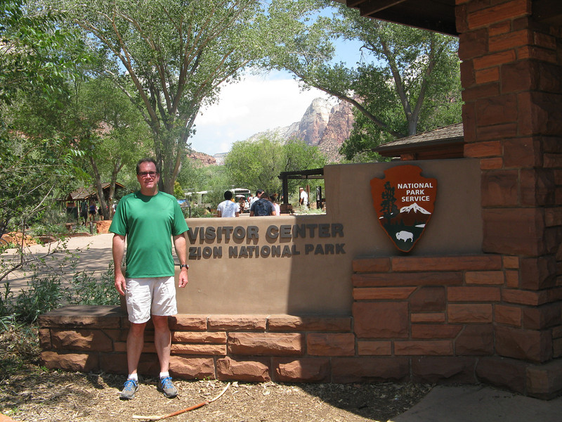 Bruce at the visitor center.