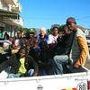 Mozambique - Manica - Interview crew setting out.