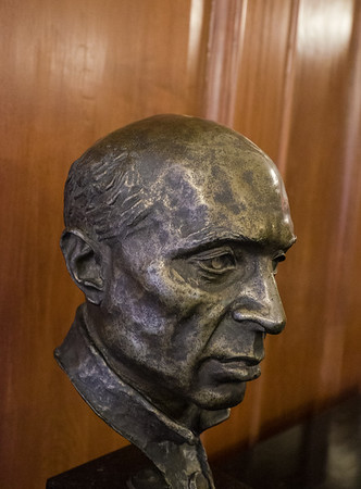 Bust of Nehru  Sculptor- Clara Quien