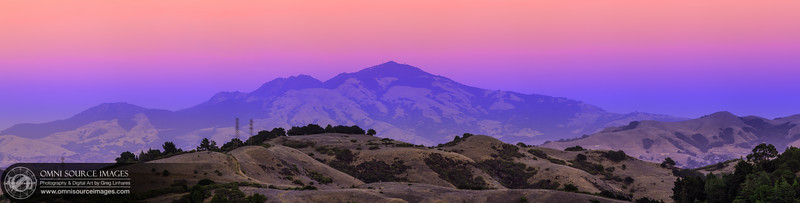 Tuyshtak (Mt. Diablo) SuperHD Panorama (20,400 x 5455 pixels). 24 exposures vertically stitched. October 17, 2012 at 6:28 PM.