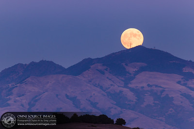 Full Moon Over Mt. Diablo - Friday, October 18, 2013 at 6:34 PM (PST).