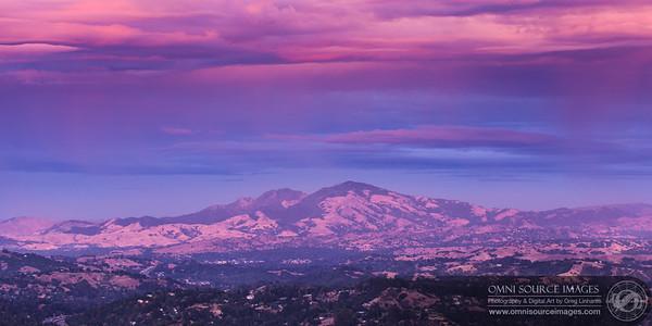 Stunning sunset over Mt. Tuyshtak (Mt. Diablo)