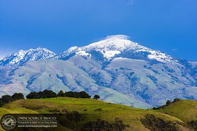 Tuyshtak (Mt. Diablo) Snow Cap, January 22, 2010 at 3:30 PM.