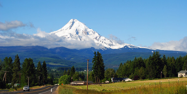 Approaching Mt. Hood.  What a sight!
