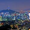 Downtown Seoul, seen from Mt. Inwangsan