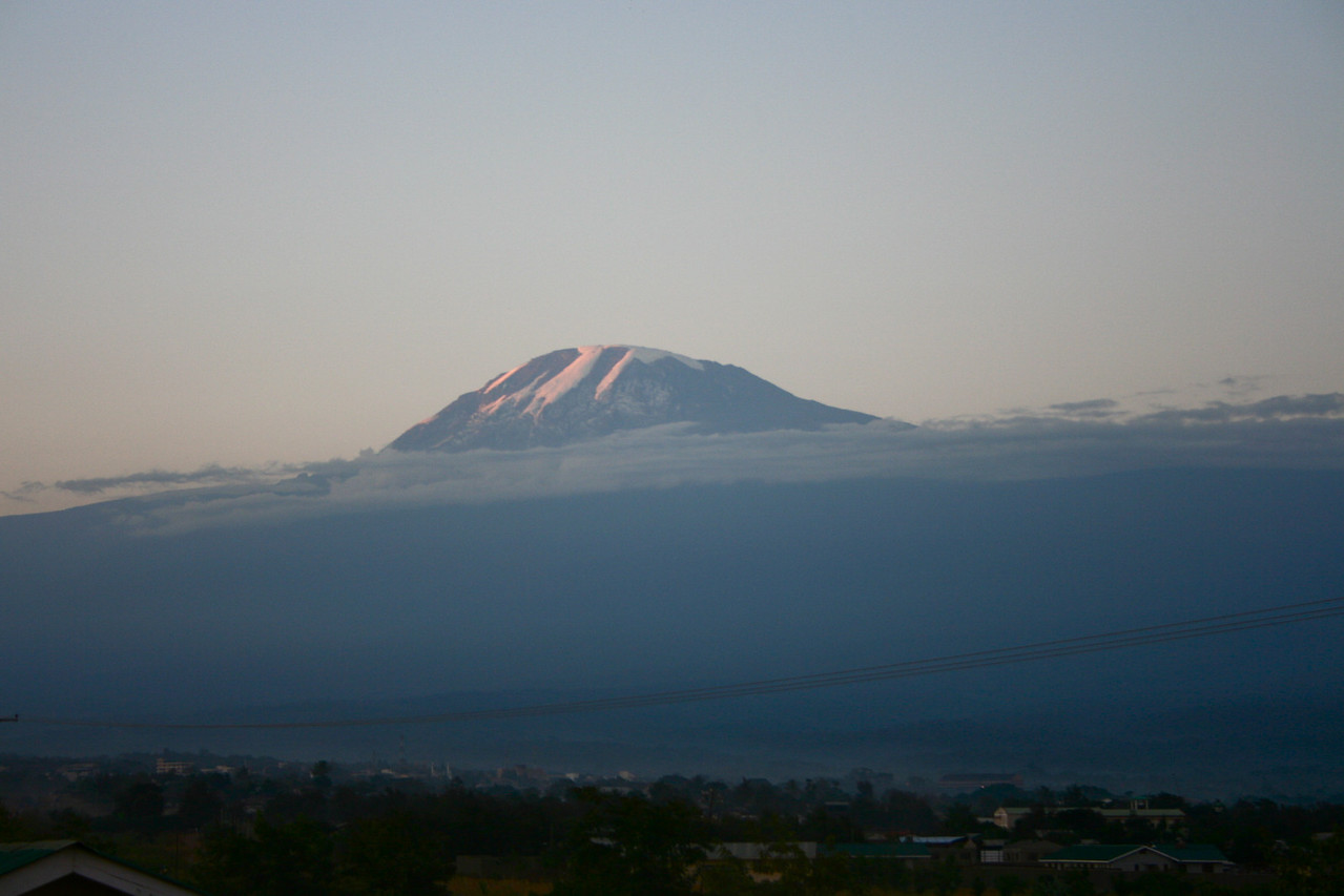 View on Mt Kilimanjaro from Moshi.