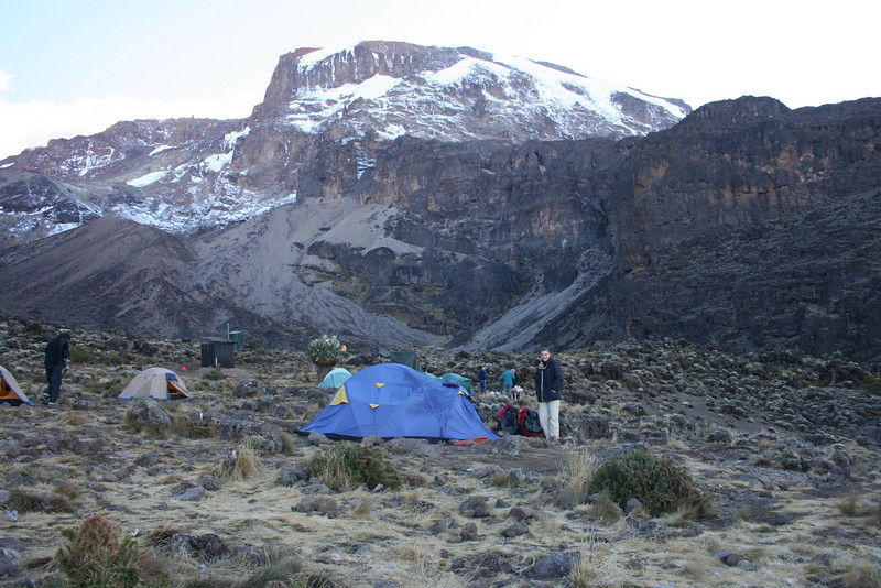Baranco Camp at 3950 meters.