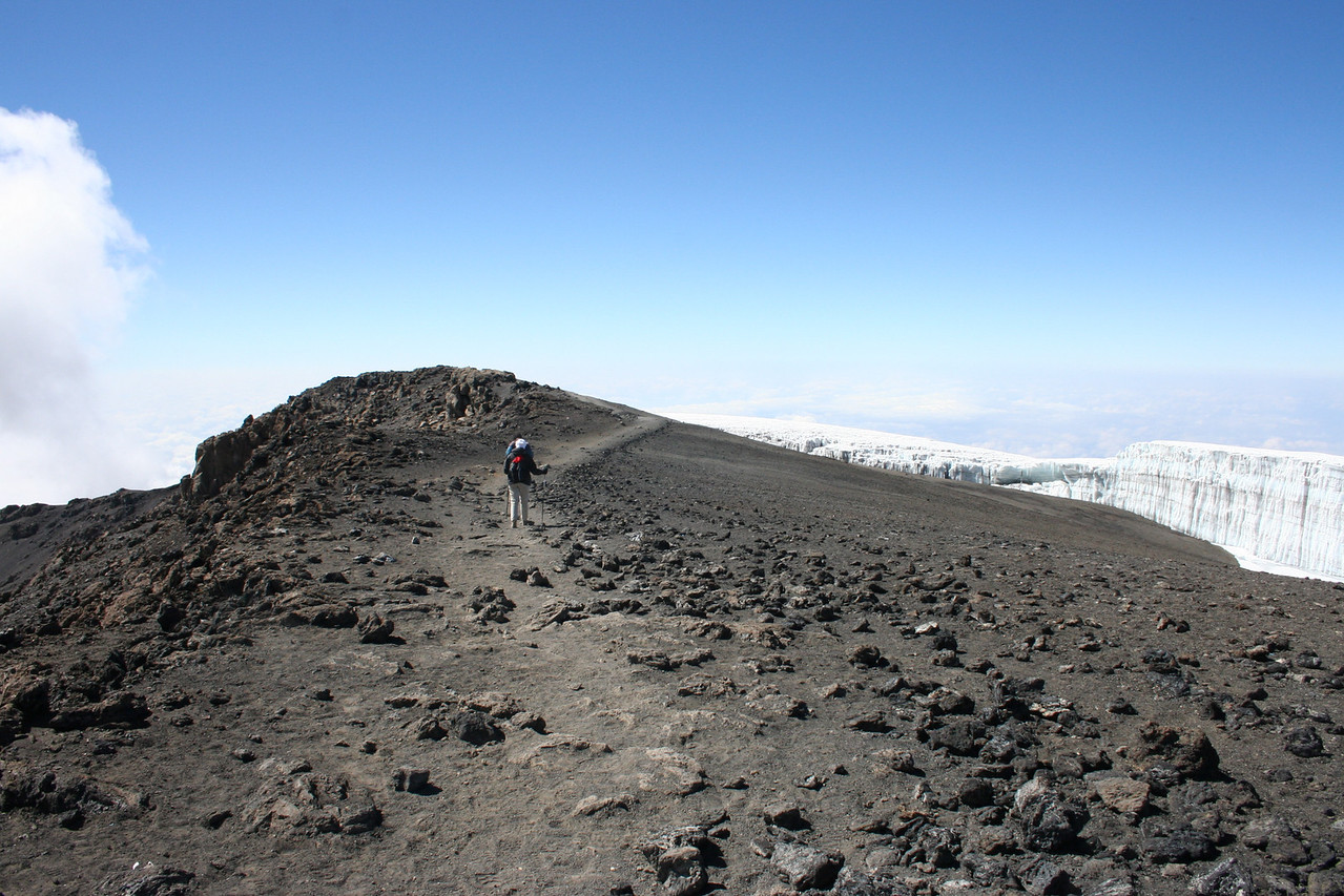 Summit trail close to Uhuru Peak.