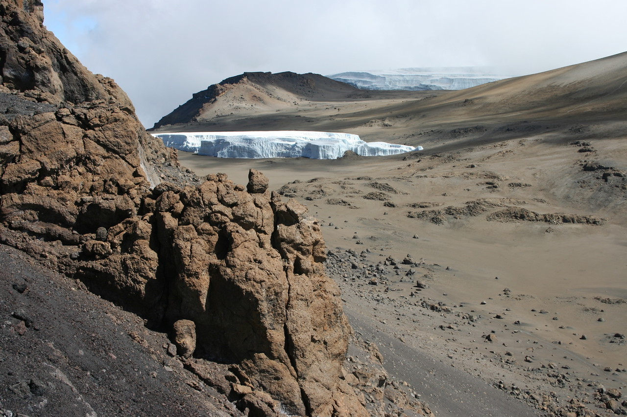 Glacier in the inner Caldera of Mt Kilimanjaro.