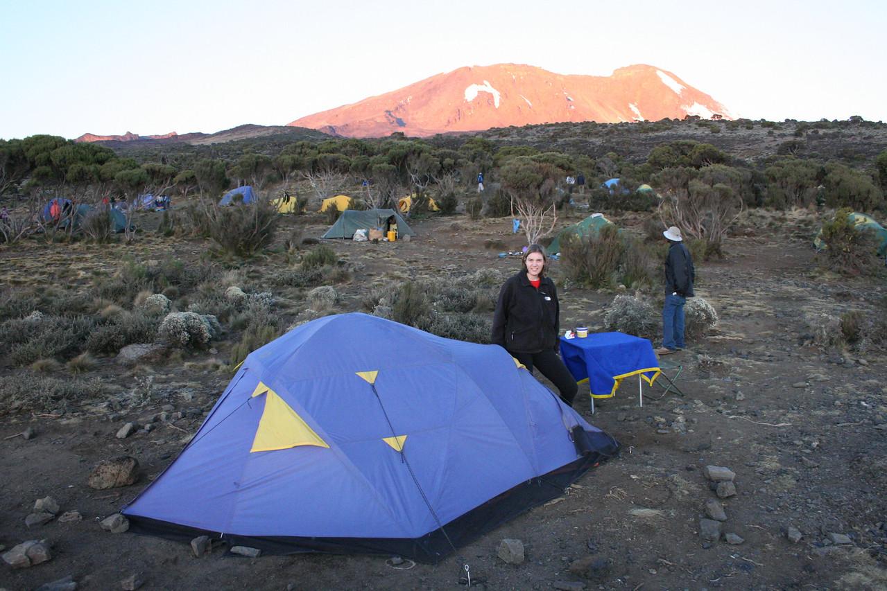 Shira Camp at 3800 meters.