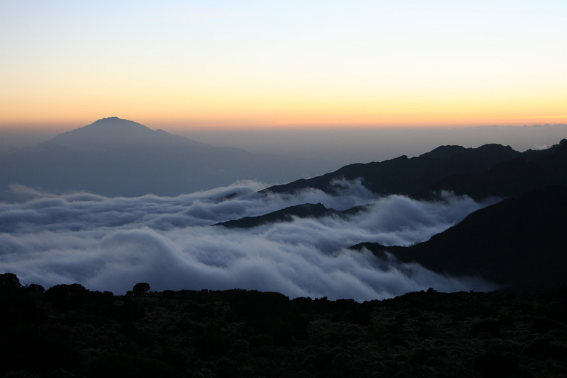 View from Shira Camp on Mt Meru.