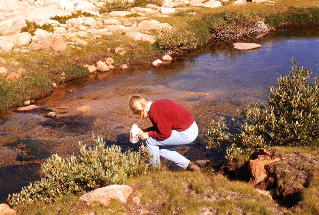 Getting our fresh water (back when you could do this)