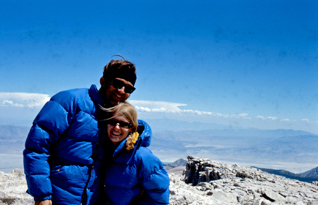 At the top of the world, Mt Langley is 14,042 ft high