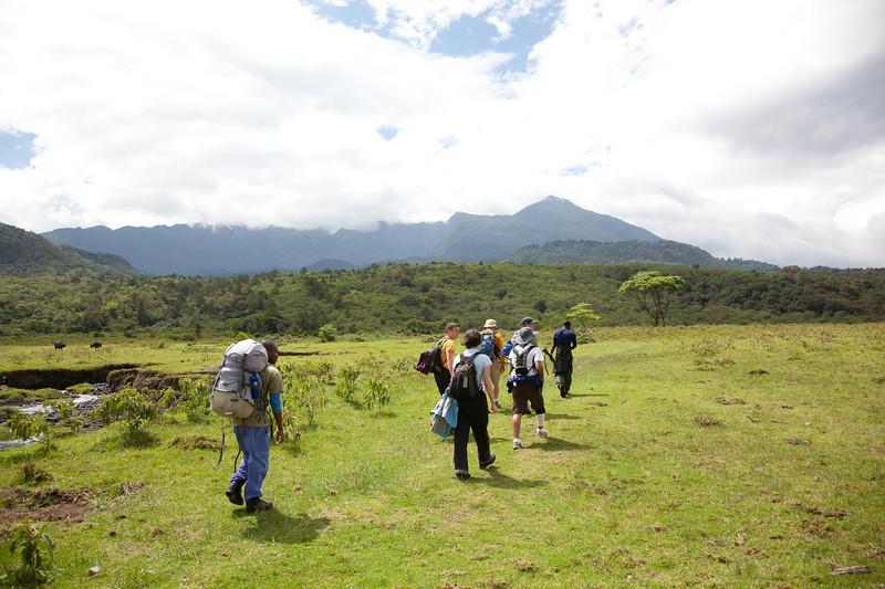 Headed up Mt Meru