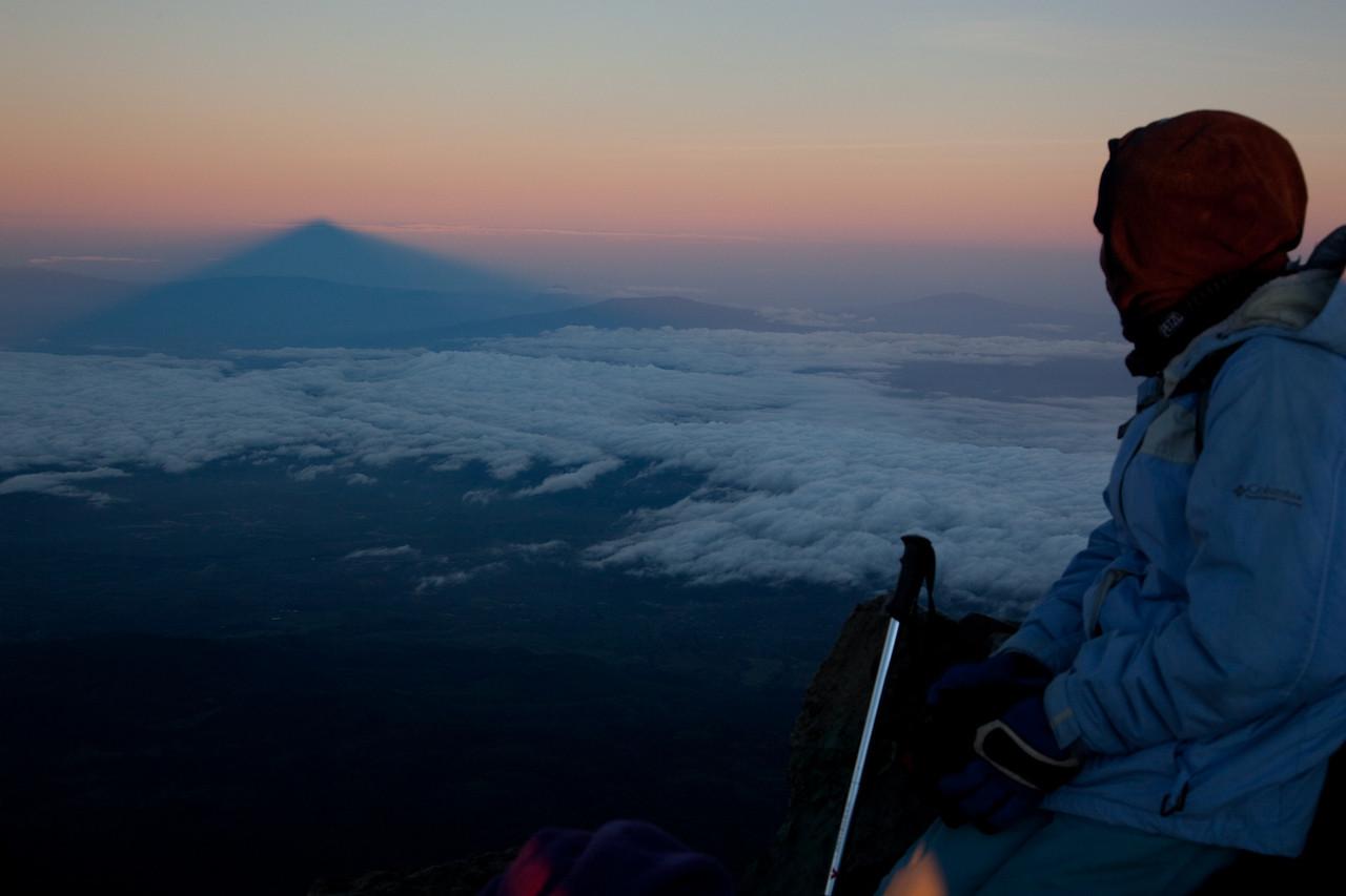 Mt Meru's shadow