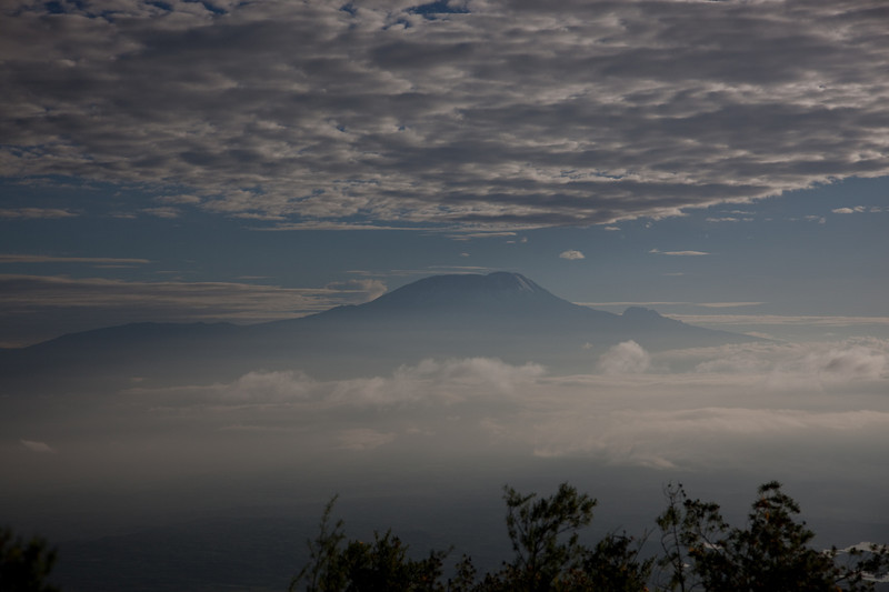Mt. Kilimanjaro on the second morning