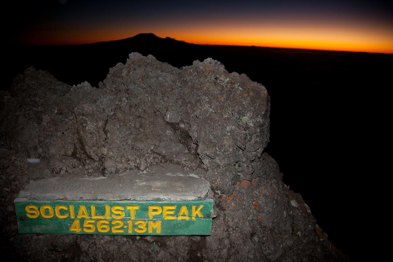 Socialist Peak - 14,967 feet above sea level