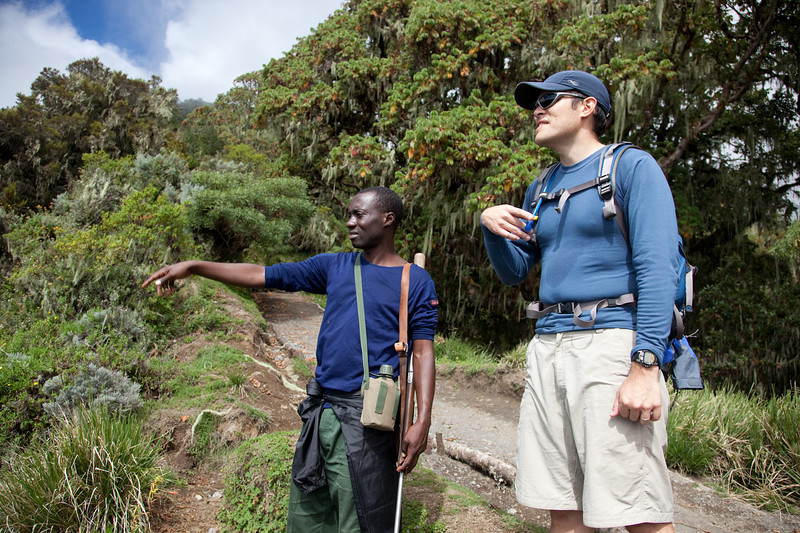 Our ranger Baise and expedition planner Roger