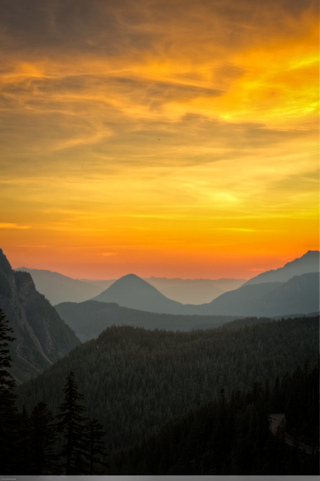 Sunset Near Narada Falls