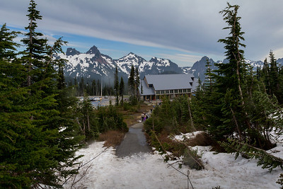 The Visitor Center at Paradise Lodge, looking south.