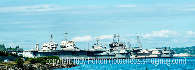 Navy Ships in Port in Bremerton