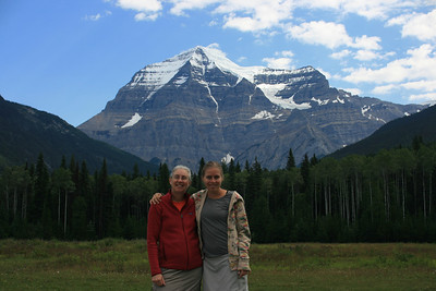 Mt. Robson from the visitor center before we started backpacking.