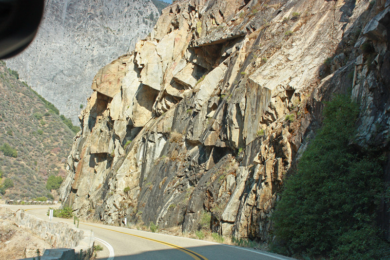 Rocks over the road