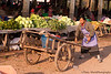 Woman With Shopping Cart At Muang Sing Market, Lunag Namtha Province, Laos