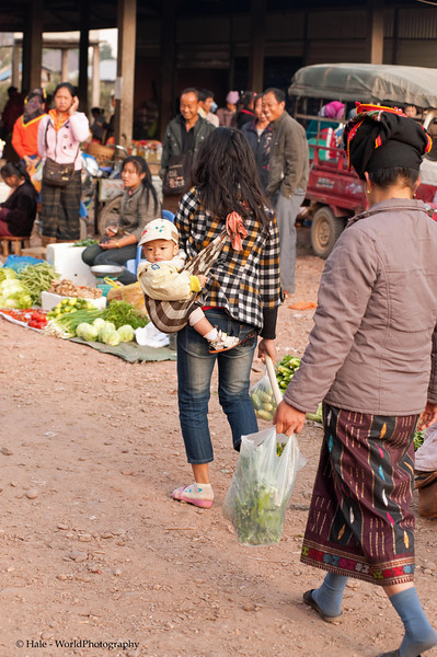 Mother and Baby At Muang Sing Market, Laos
