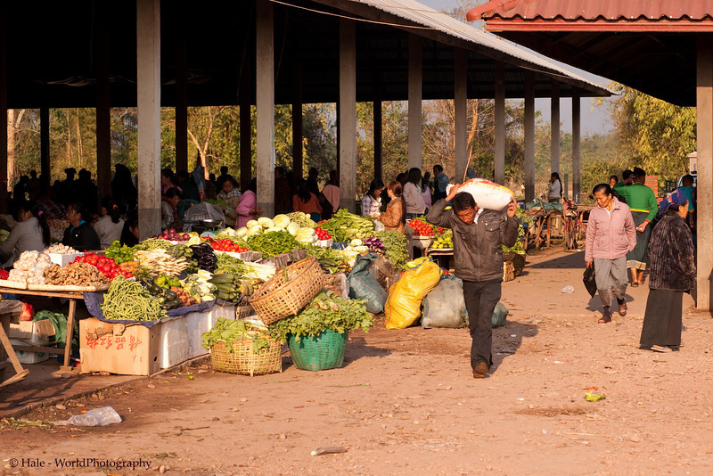 The Vegetable Stalls At Muang Sing Market, Lao People's Democratic Republic