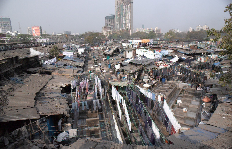 Mumbai Dhobi Ghat washing lines