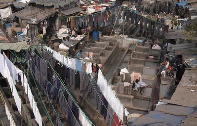 Dhobi Ghat Cisterns for washing, line for hanging, nd nothing lost!!