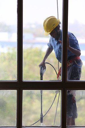 Window Washer, ITC Hotel,  Mumbai, India