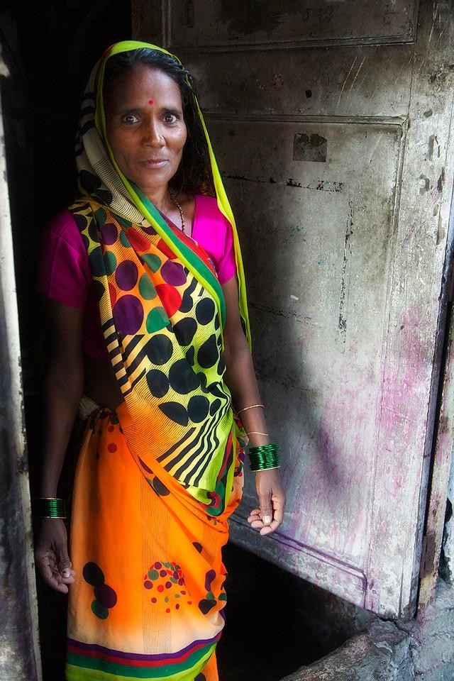 Woman inside Dhobi Ghat