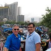 Saurabh Sharma and I with Dhobi Ghat in the background.