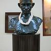 A sculpture of Gandhi.