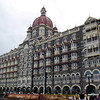 This is the Taj Mahal Palace, a hotel in Mumbai overlooking the Arabian Sea. It was built by a British Architect and was opened to the public in December, 1903.