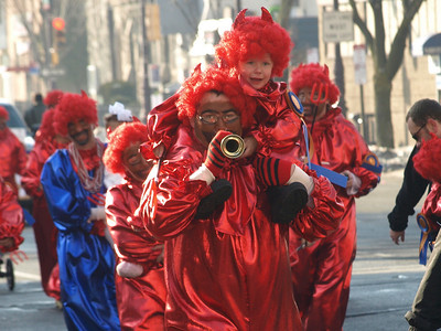 """The Sammar Strutters marched to the song """"Devil with the Blue Dress On."""""""