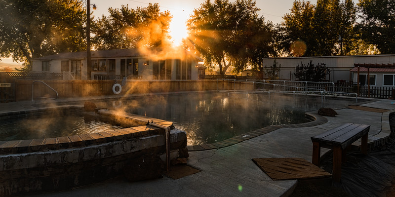 Cold Morning Hot Spring