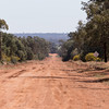 Merungi Gap, red soil and dry weather only road