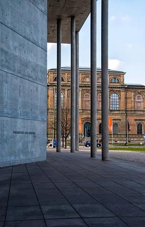 Alte Pinakothek from Pinakothek Moderne Munich
